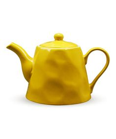 Bright and bold, the Krinkle Collection from Maxwell & Williams adds fun to your kitchen. Crafted of stoneware, Krinkle features organic shapes. Yellow Teapot, Teapots Unique, Vintage Teapots, Teapots And Cups, Tea Service, Chocolate Pots, Shades Of Yellow, Hand Painted Ceramics, Organic Shapes