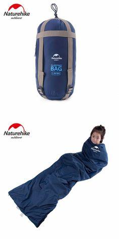 Naturehike Ultralight Sleeping Bag Envelope Type - Outdoor Camping Travel Hiking for 3 Seasons(Deep Blue)