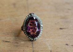 vintage MIEL DE LAVANDE 1930s filigree ring