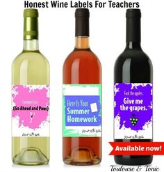 Honest Wine Labels f