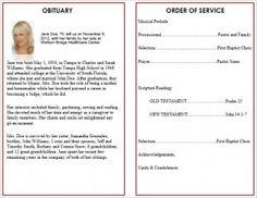 Printable Funeral Service Program Templates - Cards, memorial order of service templates, funeral order of service templates ,obituary order of service templates at http://funeralpamphlets.com