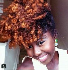 Ombré natural hair