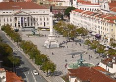 Considered the centre of downtown Lisbon, Praça do Rossio