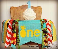 PINEAPPLE Birthday High Chair Highchair Banner Party Photo