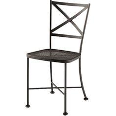 Woodard Cafe Classics Genoa Side Chair Finish: Graphite