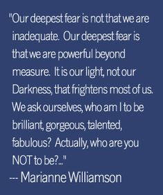 I am brilliant, gorgeous and talented.  Own who you are and be proud.