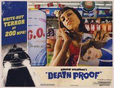 Death Proof lobby card with Rosario Dawson