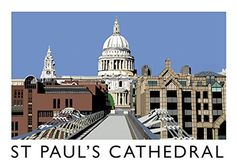 St Pauls Cathedral Portrait 40 x Print Only With White Mount - Athena Art Posters Uk, Travel Posters, Vintage Posters, Travel Ads, Down South, London Art, Buy Prints, Pictures Images, Places To Travel