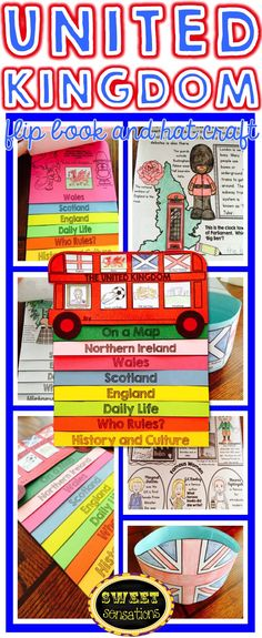 All about the United Kingdom of Great Britain and Northern Ireland flip book plus hat craft. Makes a cute double decker book with a question to research on each page. $4.50