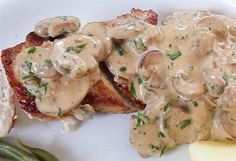 Kip met Boursin-champignonssaus