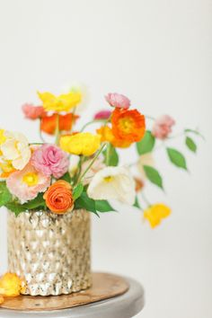 Summer flower ideas by Amy Osaba Events | Photo by Haley Sheffield | Read more - http://www.100layercake.com/blog/?p=74323