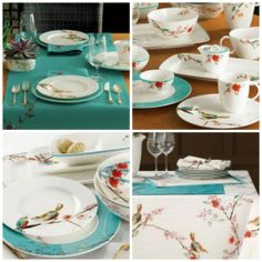 My favorite china collection...Chirp by Lenox. Ahhh....I love birds :)