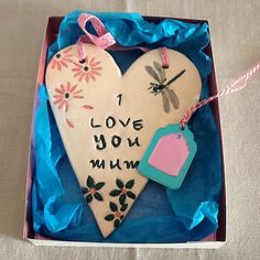 "Mother's Day gift heart "" I love you mum "" by Paintspotsandpaper on Etsy"