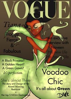 #Vogue #DisneyPrincess #Tiana http://www.digitalbusstop.com/vogue-disney-princesses/