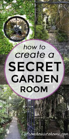 Lots of beautiful ideas for creating a secret garden room in your own backyard. A wrought iron gate looking into a courtyard is something I would love to have in my garden. Garden room Secret Garden Design Ideas: How To Create Your Own Secret Garden Backyard Plan, Backyard Shade, Backyard Retreat, Shade Garden, Backyard Landscaping, Landscaping Ideas, Landscaping Melbourne, Backyard Ideas, Natural Landscaping