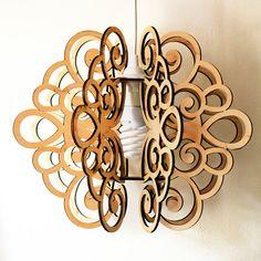 Pendant lamp SPLINE. Plywood by DefdesignUA on Etsy