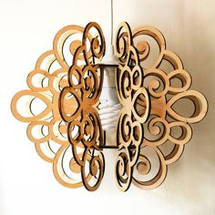 Pendant lamp SPLINE. Plywood by DefdesignUA on Etsy