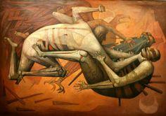 """Los Tezcatlipocas"" por Jorge González Camarena"