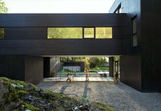 Architect Todd Saunders designed a sleek blackened timber home called Villa S for himself and his family in Bergen, Norway, inspired by advice from his two young children.