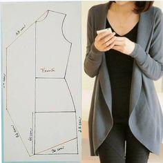 Dress Sewing Patterns, Sewing Patterns Free, Clothing Patterns, Sewing Clothes Women, Diy Clothing, Costura Fashion, Jacket Pattern, Sewing Basics, Fashion Sewing