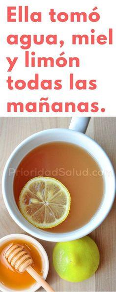 Tomar agua, miel y limón todas las mañana puede transformar tu cuerpo.