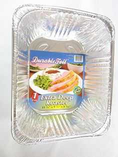 3 Disposable Aluminum Extra Deep Roaster Pans ** Find out @