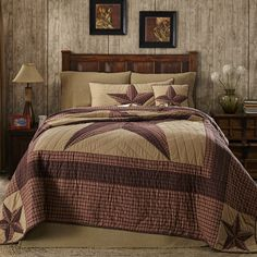Imagine your home with our quality rustic bedding and country quilts like the Landon King Quilt by VHC Brands at Cherry Creek Bed and Bath on sale now. Country Bedding, Country Quilts, Rustic Bedding, Colchas Country, Country Decor, Country Primitive, Primitive Decor, Country Homes, French Country