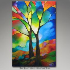http://www.sallytrace.com/2012/two-trees.htm My newest tree painting.