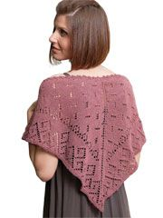 Shawl by Annie's Love To Knit.  Uses one skein of Kollage Yarns Riveting Sport yarn.