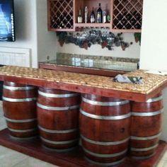 wine cork bar top - Google Search