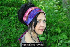 Hippie Headband Festival Clothing Headband by IntergalacticApparel