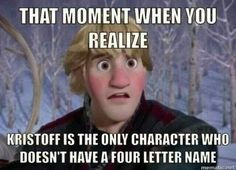 Kristoff is left out
