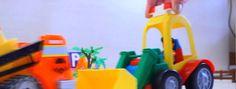 Детские игрушки!Поли Робокар в видео про машинки с участием бульдозера т...