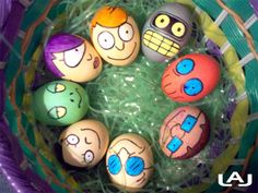 Easter Egg Design Futurama. For more great geek fashions, home decor, and holidays visit http://pinterest.com/SuburbanFandom/geek-home-and-holiday/