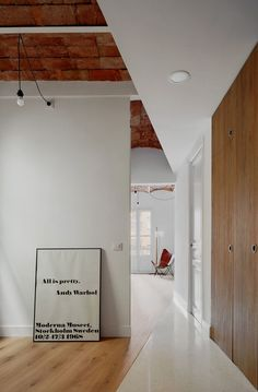Allaround Lab, José Hevia · Refurbishment of an apartment in Barcelona Light Hardwood Floors, Hallway Designs, Ventilation System, Flooring Options, Contemporary Architecture, Interior Architecture, Small Apartments, House Rooms, My Dream Home