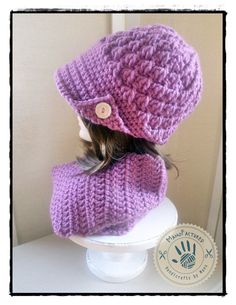 Paris crochet cap and scarf set by ManoFactured on Etsy