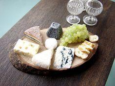 Miniature Food- Big Cheese Plate by PetitPlat - Stephanie Kilgast, via Flickr
