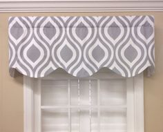 Gray and Yellow Paisley Scalloped Valance by CurtainsBlindsBath