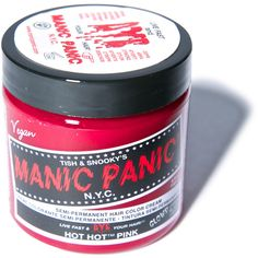 Manic Panic Hot Hot Pink Classic Hair Dye ($14) ❤ liked on Polyvore featuring beauty products, haircare, hair color, hair and beauty