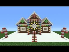 Minecraft Tutorial: How To Make A Christmas Themed House - 2 (Now With Added Christmas) - YouTube