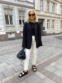 Scandinavian Style, White Jeans, Fashion Photography, Style Inspiration, Blazer, Sandals, Chic, My Style, Outfits