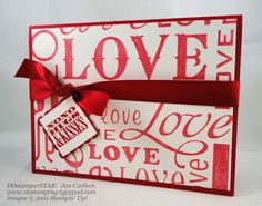 stampin up valentine tags - Google Search