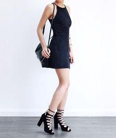 Pretty black dress. #dress