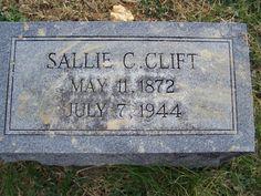Jollett Etc.: Tombstone Tuesday: Sallie Clift #genealogy