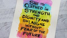 """Artist Gang 2015: """"She Is Clothed in Strength"""" by Andrea Walford 4.28.2015"""