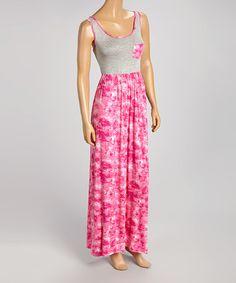 Look what I found on #zulily! Fuchsia & Gray Pocket Maxi Dress by sun n moon #zulilyfinds