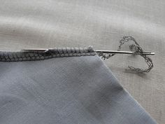 weaving in an end on a serged seam--no need for fray-check!