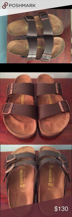 Arizon Birkenstocks Only worn twice! In great shape! They were too big for me. Birkenstock Shoes Sandals