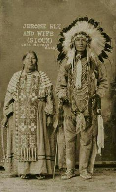 Jerome Elk and wife, Sioux Native American Pictures, Native American Tribes, Native American History, Native Indian, Native Art, American Spirit, American Indian Art, First Nations, Cherokee