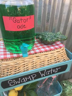 'Gator' ade drink cart for clambake party